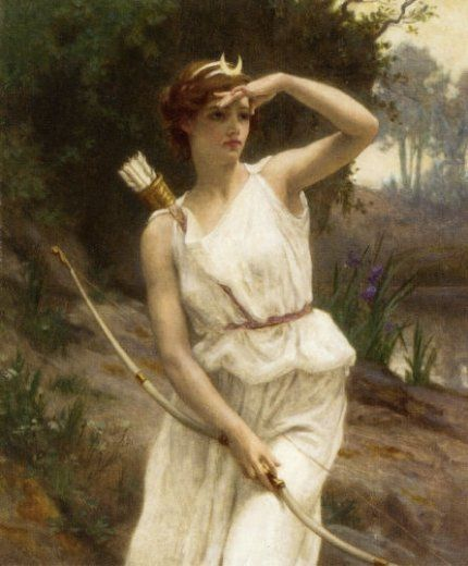 Guillaume Seignac - Diana the huntress. Bow & arrows, my kind of weapon.