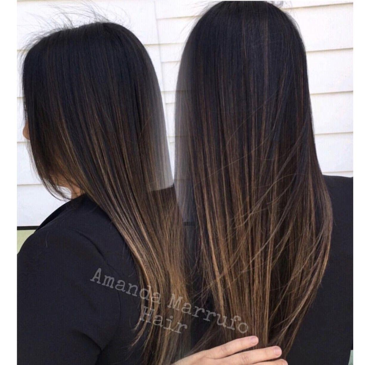 Balayage Dark Brown Hair Gloss Keratin Dark Brown Hair Balayage Balayage Hair Dark Black Hair Balayage