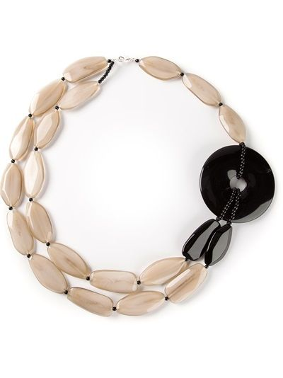 Shop Armani Collezioni Resin Beaded Bracelet from Farfetch ...