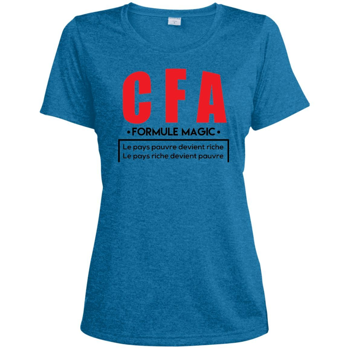 Afrikmax CFA Ladies Heather Dri-Fit Moisture-Wicking Tee