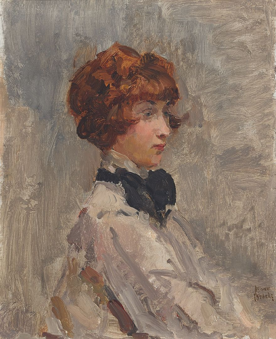 Schilderij van Isaac Israels (1865-1934) Woman with black bow | Peintre  belge, Peintre, Artiste