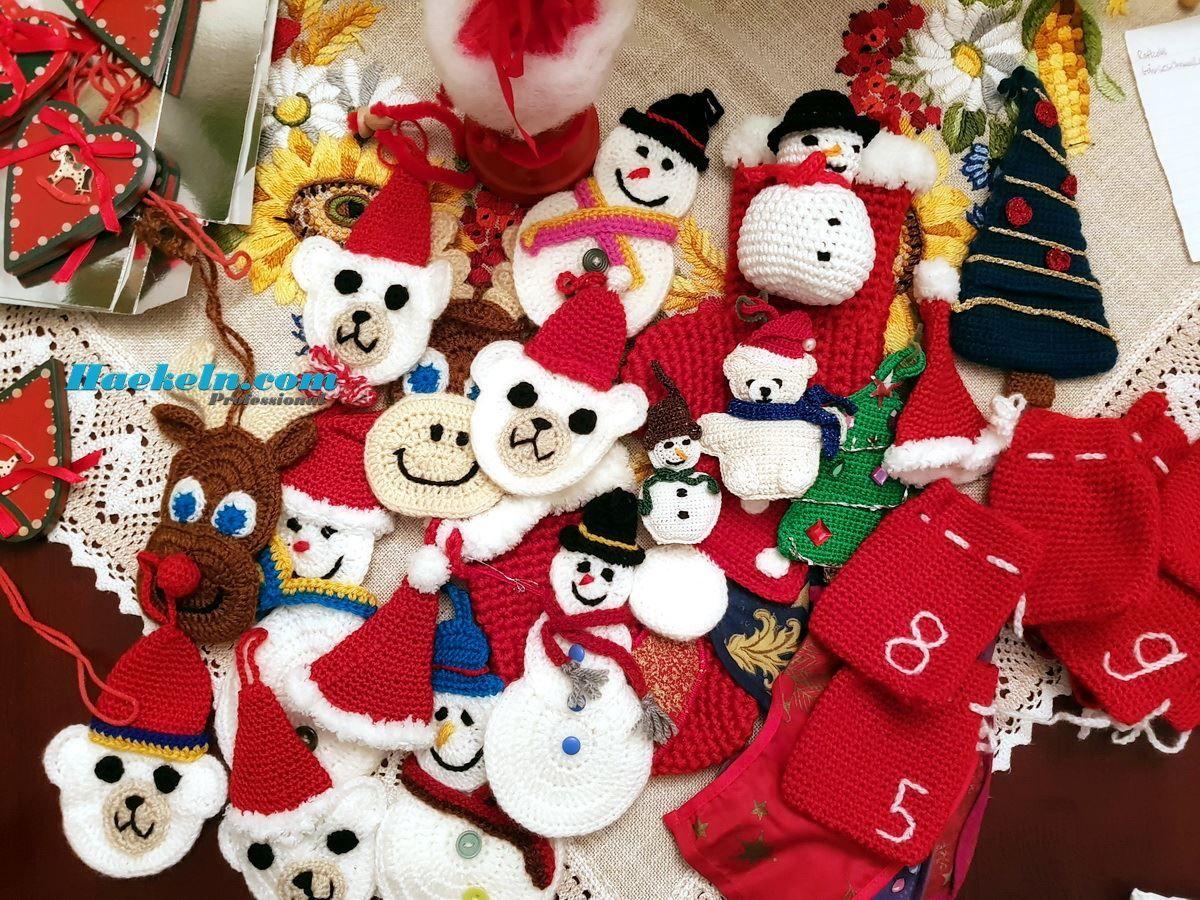 Fancy Weihnachten Häkelanleitungen Uk Sketch - Decke Stricken Muster ...