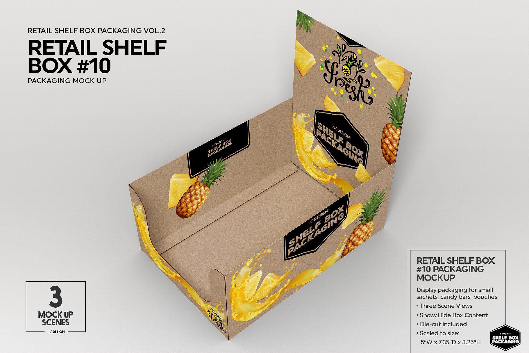 Download Retail Shelf Box 10 Packaging Mockup Packaging Mockup Retail Shelving Simple Graphic