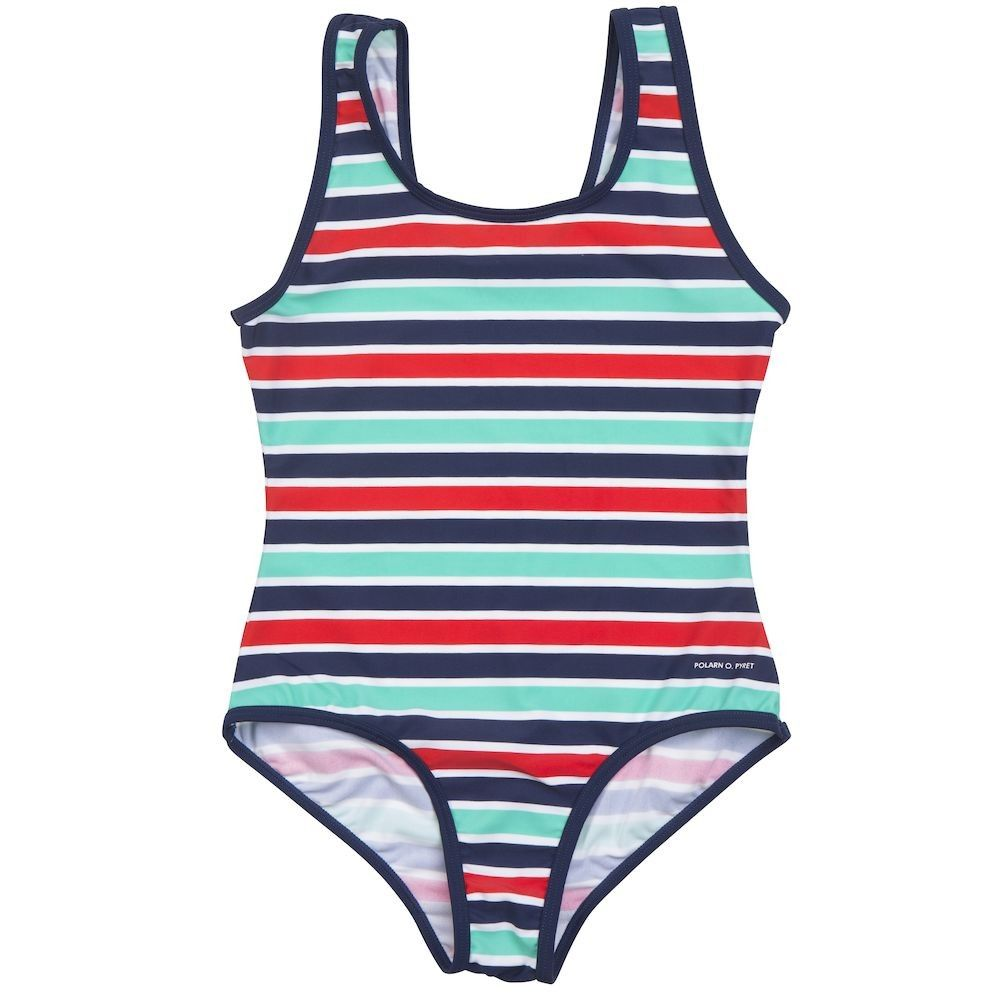 98395201878 Love this! at Polarn O. Pyret UK & Ireland STRIPED GIRLS SWIMSUIT  #polarnopyretuk #qualitychildrensclothes #colourfulkidsclothes Swimsuit  with multicolour ...