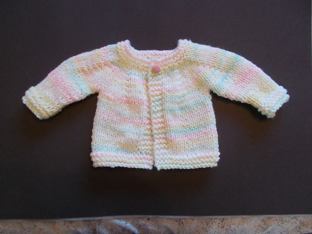 Perfect Top Down Baby Jacket Chunky Yarn Pattern By