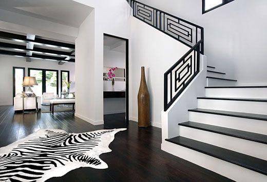 Stylish Home Black And White Interiors Decoration Noir Et Blanc
