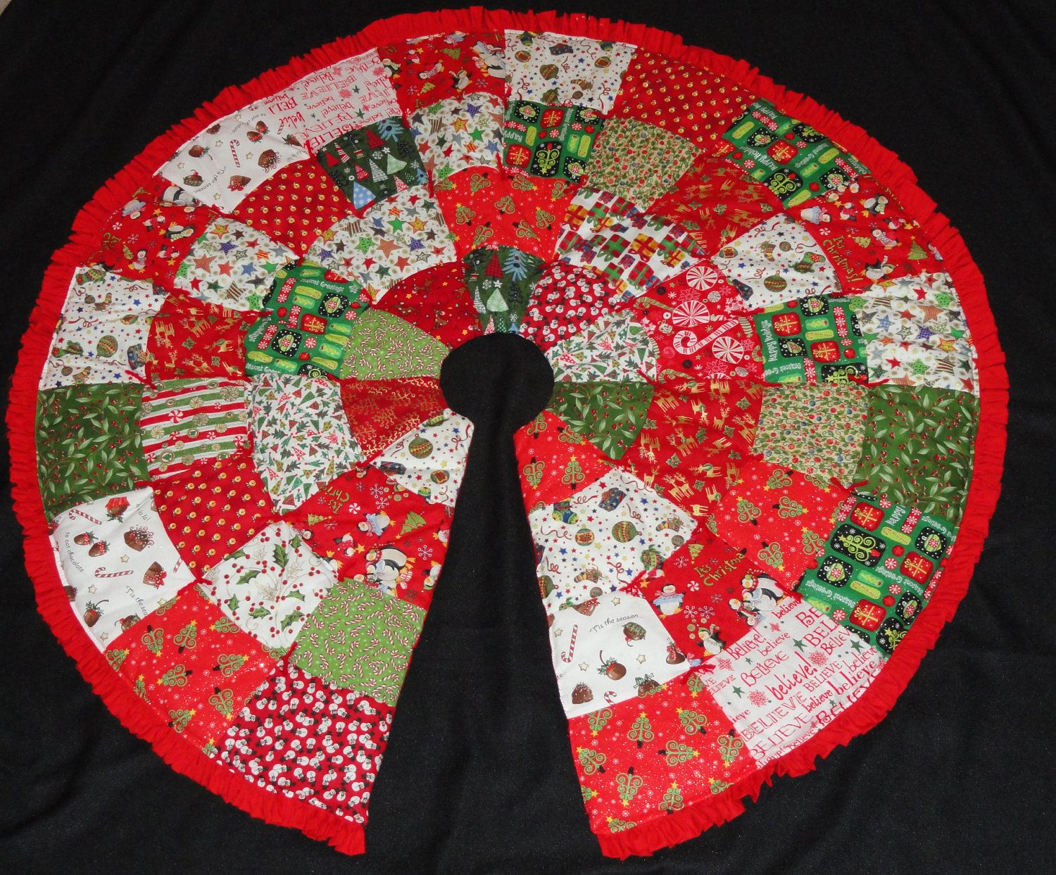 Christmas Tree Skirt Pattern By Elainescatterbrain On Etsy X3ELdQPA
