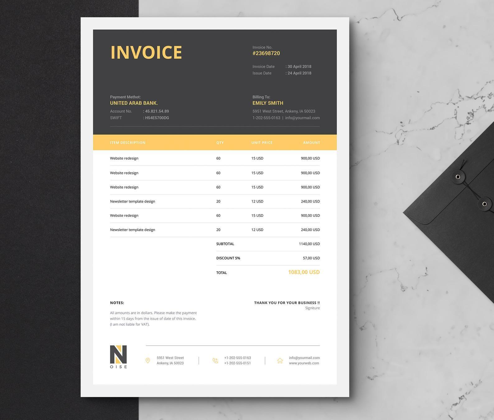 Invoice Template Business Invoice Receipt Printable Etsy Invoice Template Invoice Design Invoice Design Template