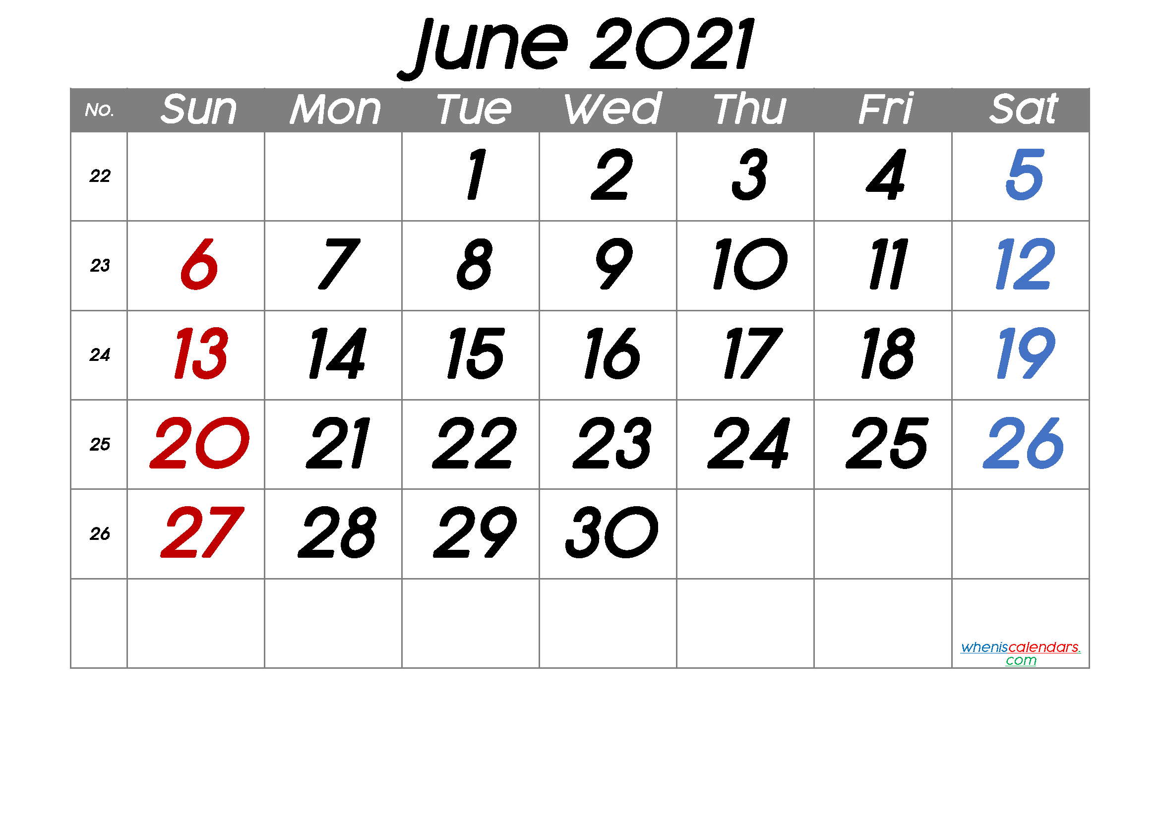 Free Printable June 2021 Calendar (Premium) in 2020 | Calendar
