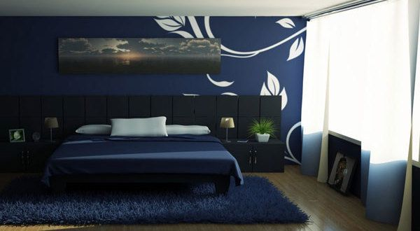Schlafzimmer Dunkelblau Haus Pinterest Blue Bedroom Navy Blue