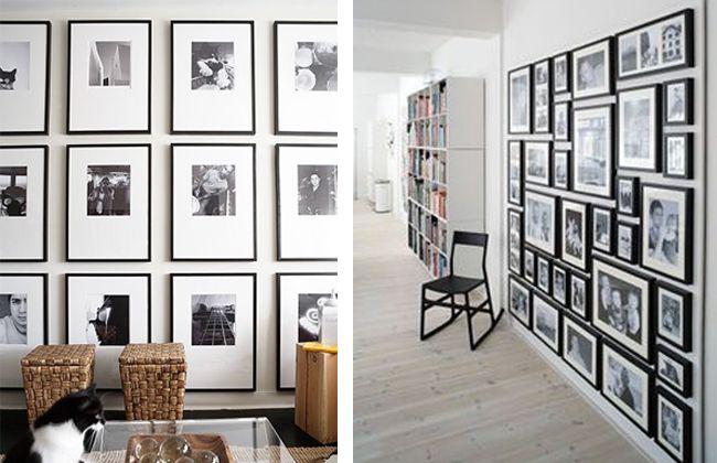 paredes decoradas en blanco y negro Estilo Escandinavo