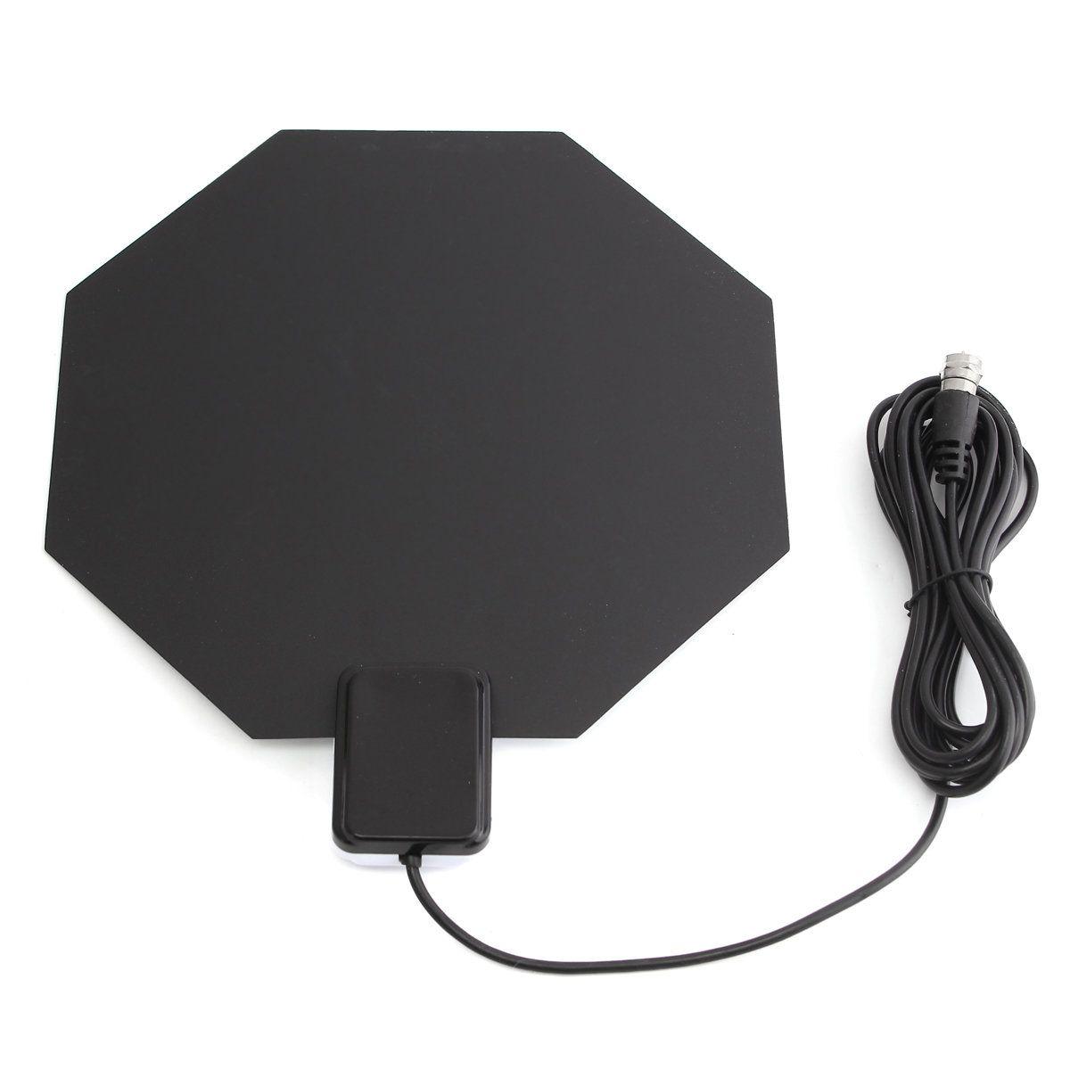 long range amplified flat indoor hdtv antenna vhf uhf digital analog tv hd  home