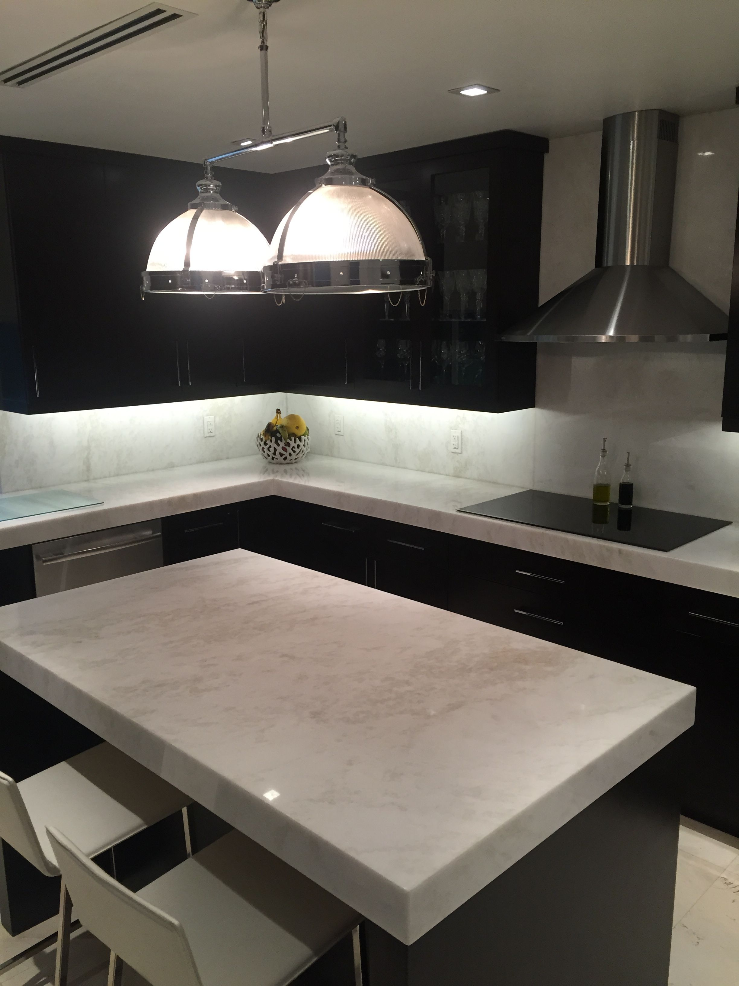 mystery white marble slab kitchen countertop south miami kitchen