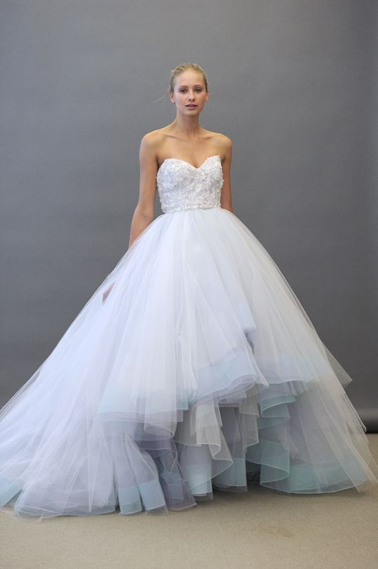 11 Exquisite Wedding Dresses from Lazaro | OneWed... its a suttle ...