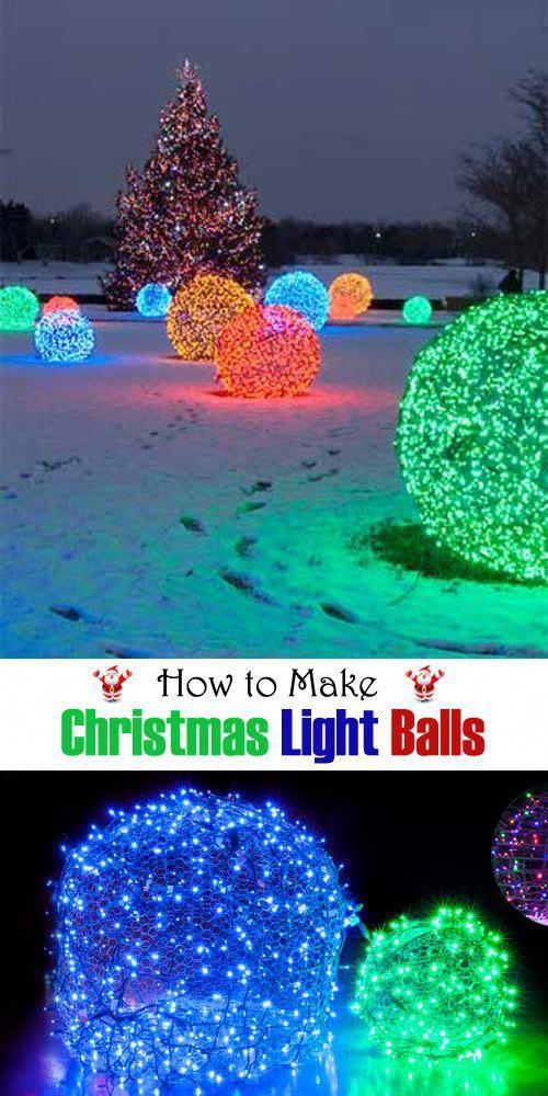 How to Make Christmas Light Balls #christmasdecor #decor #decoração #christmaslights #houselightinglivingroom
