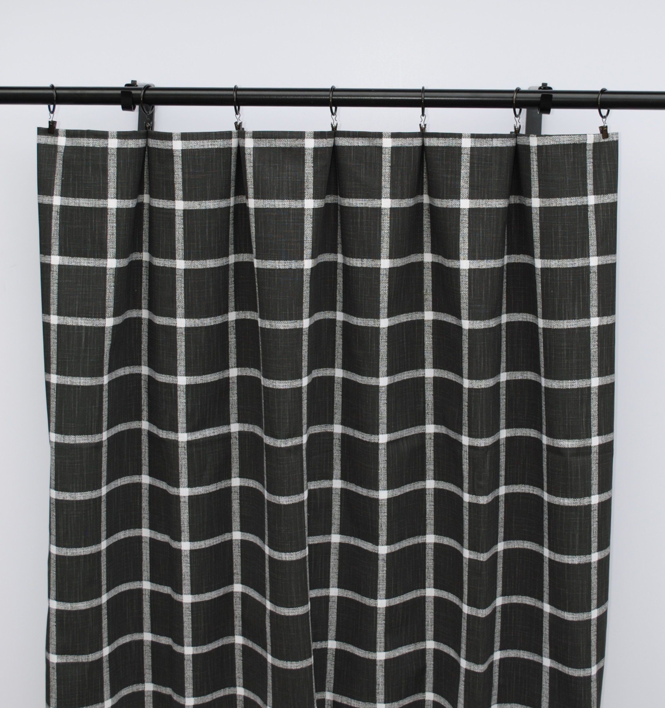Black And White Checkered Curtains Checkered Curtain 2 Curtain Panels Curtains Home Decor Black And White Curtain Black Curtains White Curtains Panel Curtains