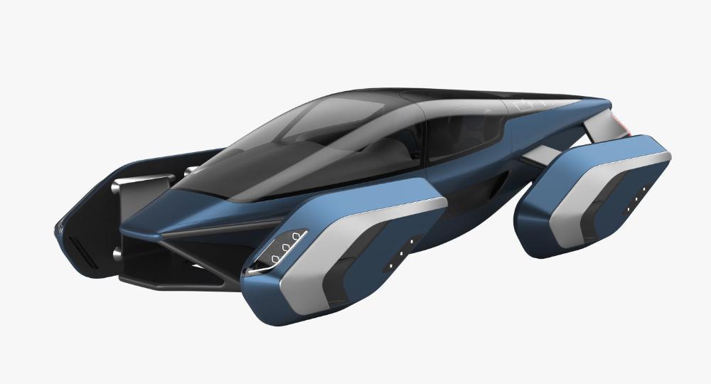 Hover Car Concept 3 3d Model Hover Car Futuristic Cars Concept Futuristic Cars
