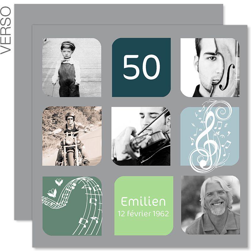 carte d 39 invitation anniversaire 50 ans texte carte. Black Bedroom Furniture Sets. Home Design Ideas