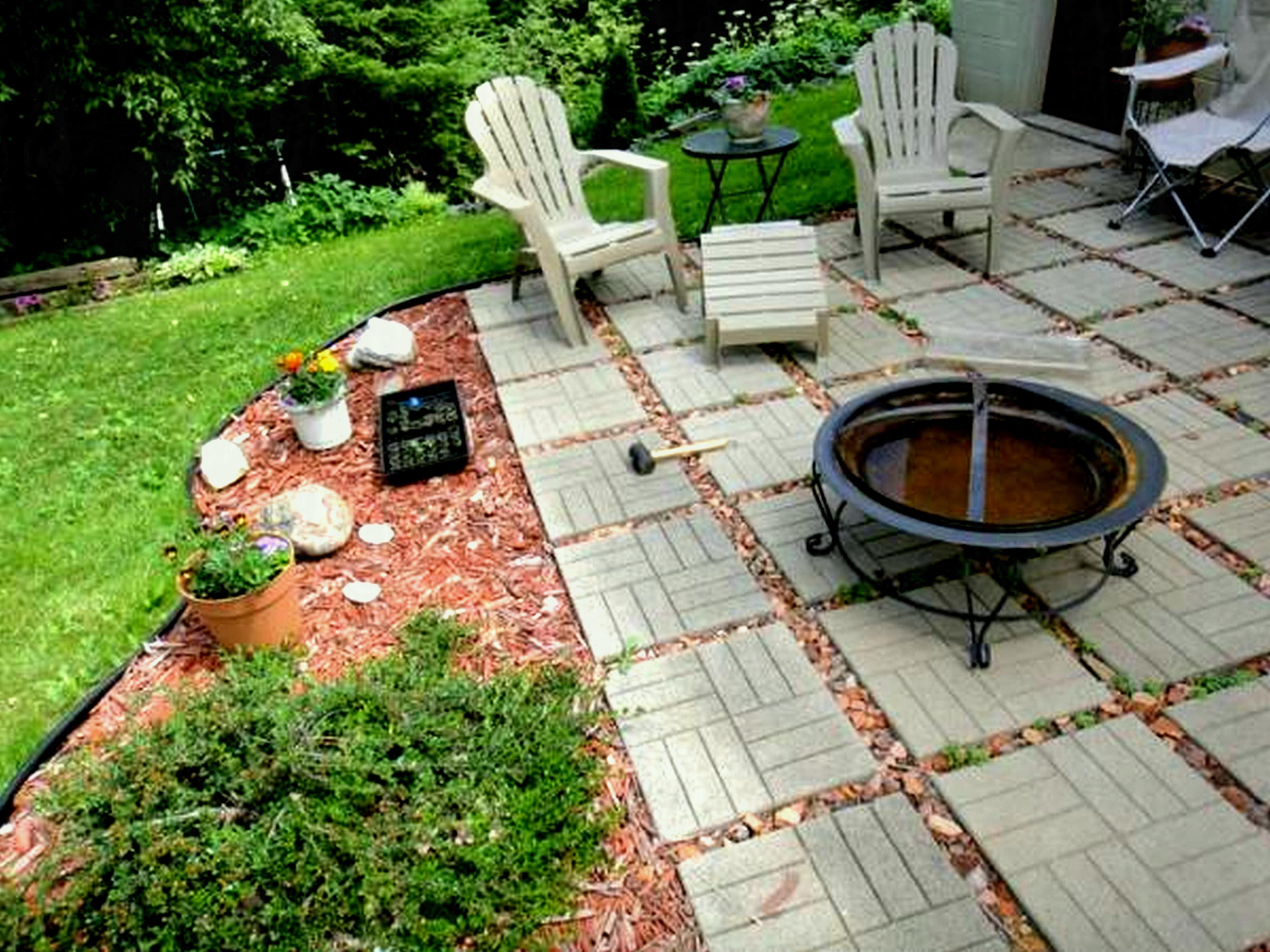Astonishing Cheap No Grass Backyard Ideas   Backyard ... on Small Sloped Backyard Ideas On A Budget id=77423