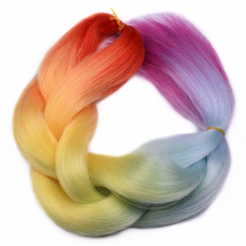 Feilimei ombre braiding hair extension synthetic japanese fiber