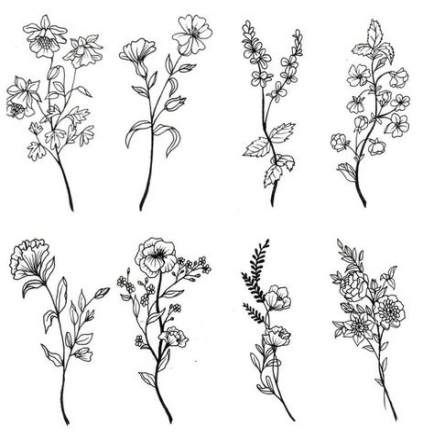 39 Trendy Flowers Tattoo Desing Sketches