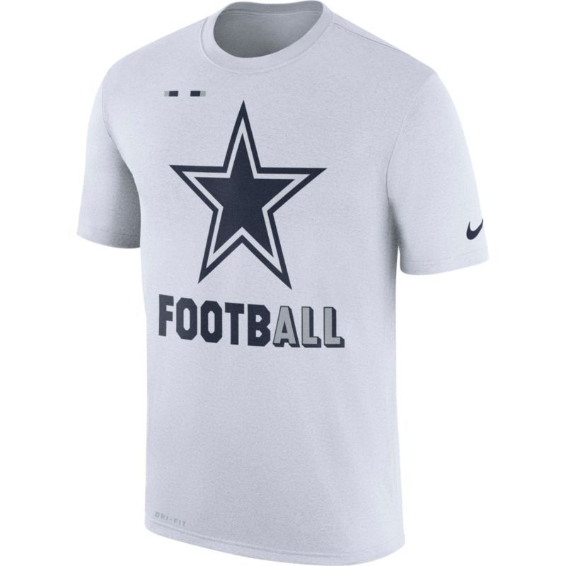 Nike Men s Dallas Legend Football Icon Performance White T-Shirt 2e0ab5e0b33