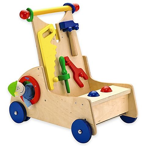the walk-along tool cart from haba toys is wonderful for your ...