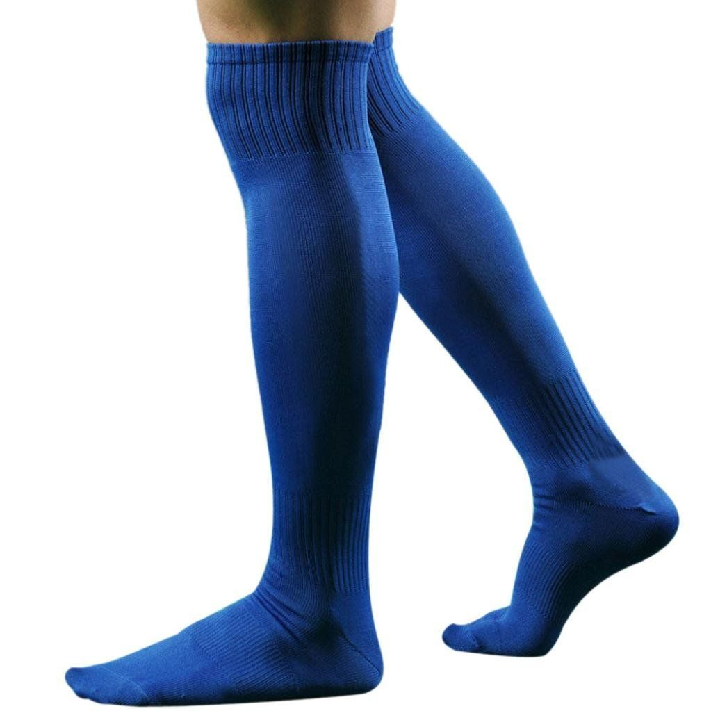 Bluelans Mens Knee High Long Socks Football Rugby Soccer Sports Socks Blue Awesome Products Selected By Anna C Soccer Socks Football Socks Mens Sports Socks
