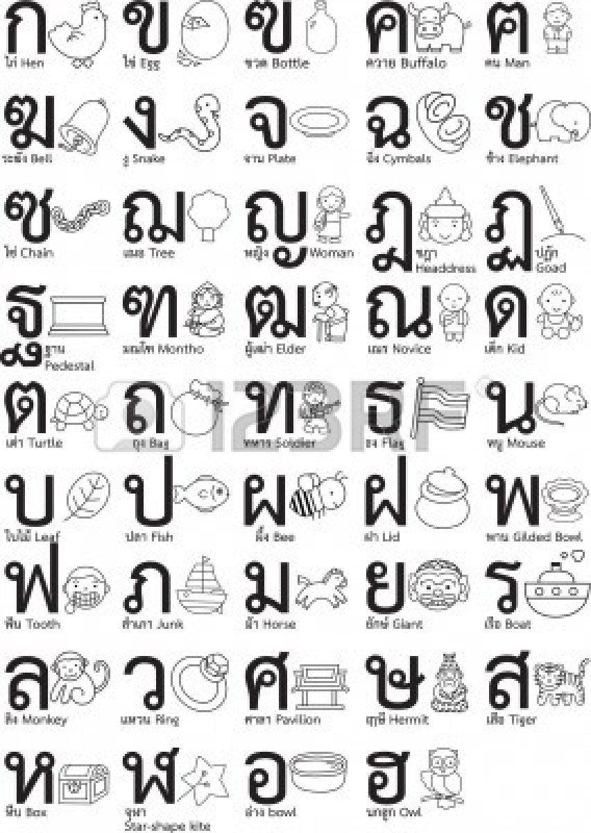 Thai Alphabet Have Thai Days Where We Try To Only Speak Thai