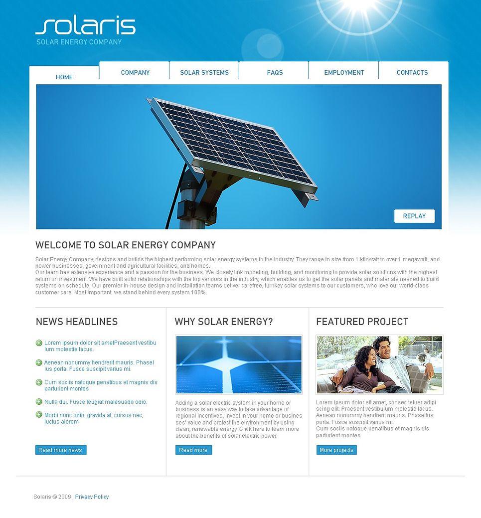 Website Templates Solaris Solar Website Templateshugo  Solar Energy  Pinterest