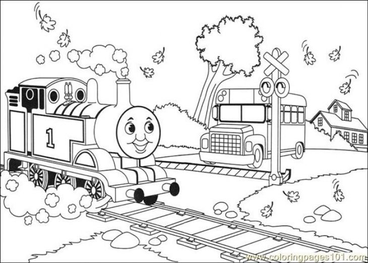 Online Thomas And Friends Coloring Page Printable For Kids