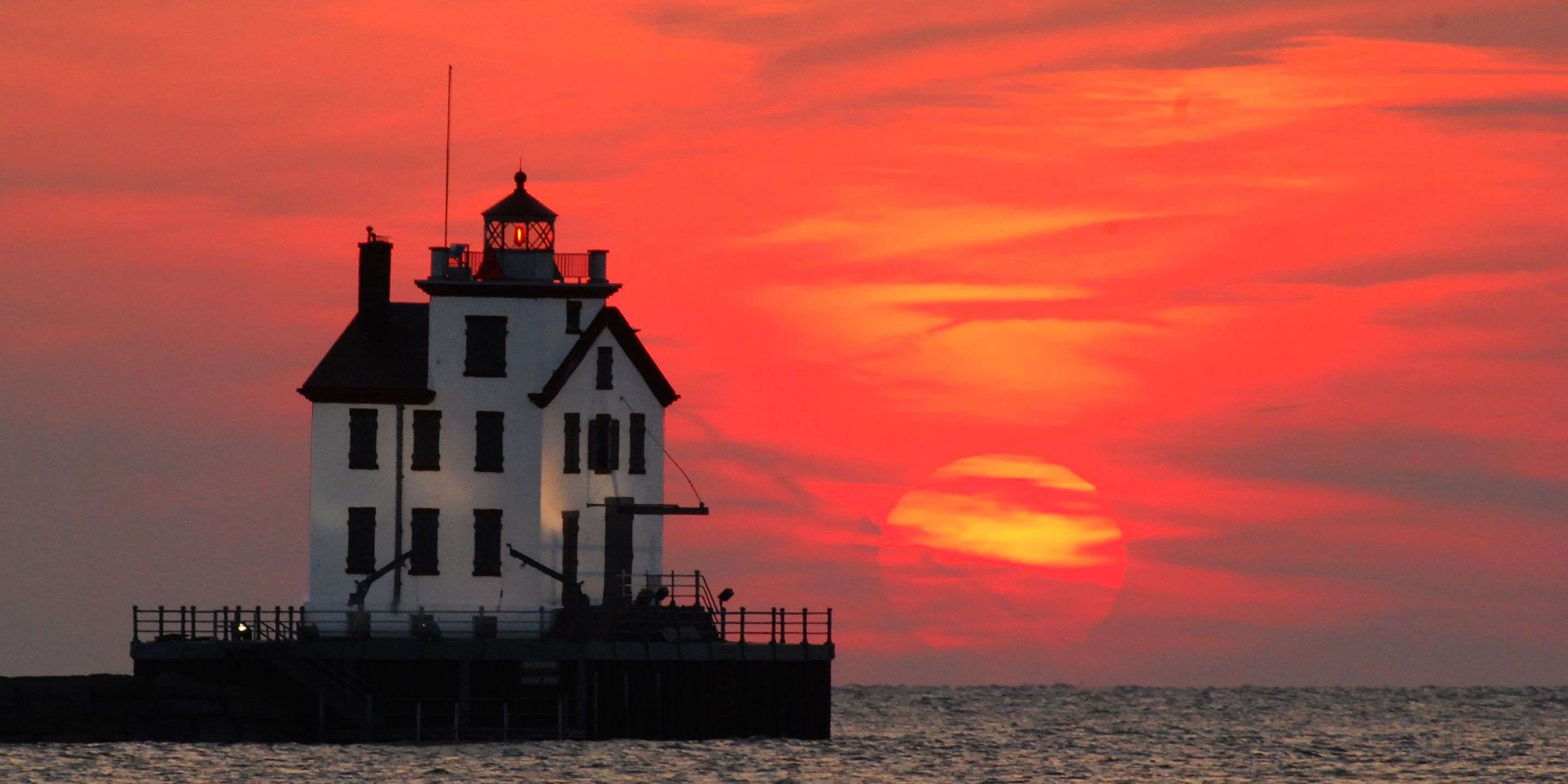 This charming lighthouse was saved from demolition in the 1960s and is today one of the most beloved landmarks in Lorain, Ohio.   - CountryLiving.com