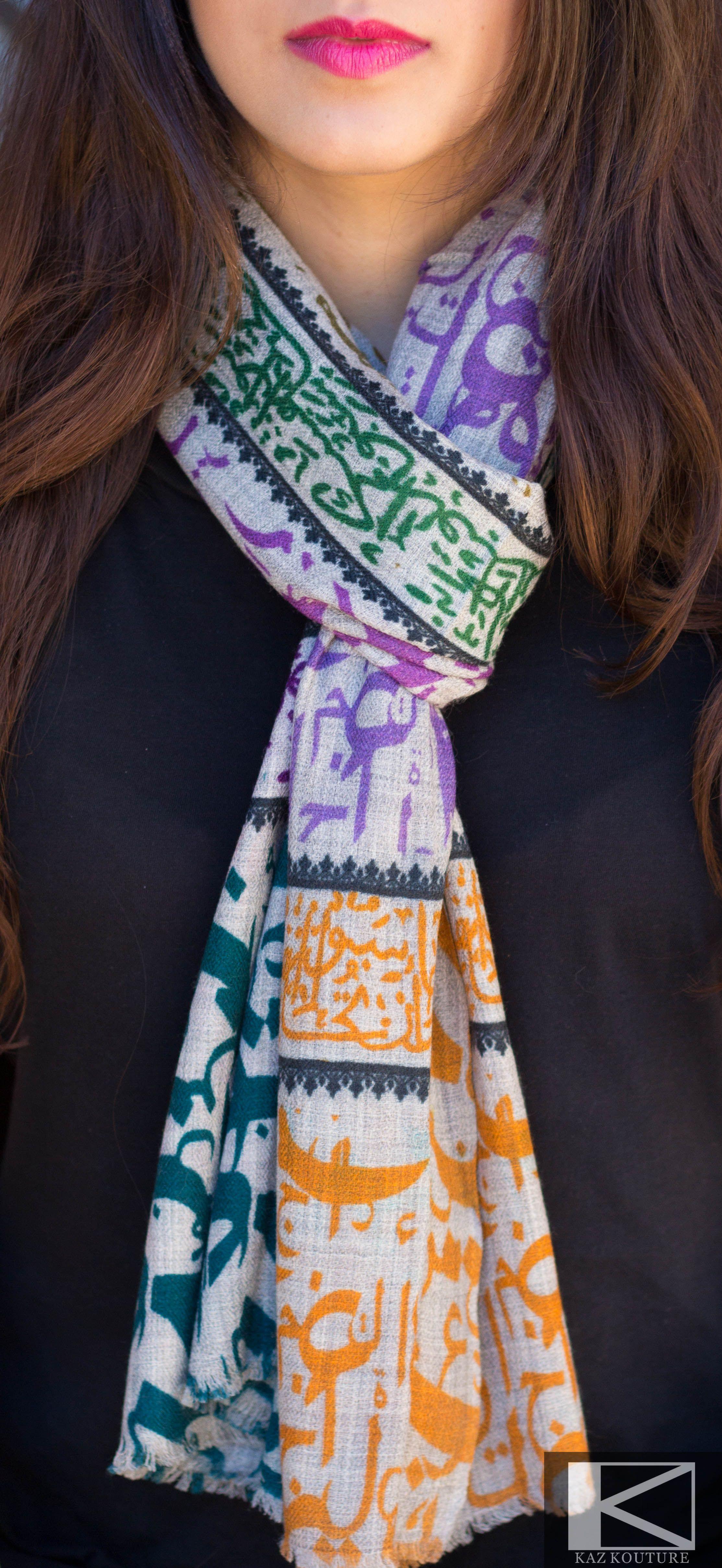 Cashmere Arabic Calligraphy Scarves Scarves Pinterest