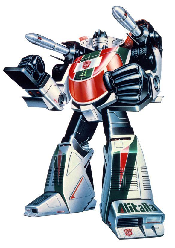 Transformers box art - Wheeljack (I had this transformer as a kid)