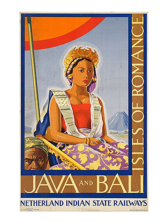 Bali Travel Poster Indonesia Travel Poster Java Travel Poster Frame
