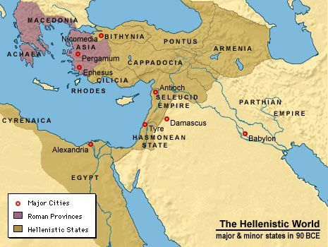 Map Of The Hellenistic World I Chose This Image As A Representation Regions Focus During Period Between 323BCE And 31BCE
