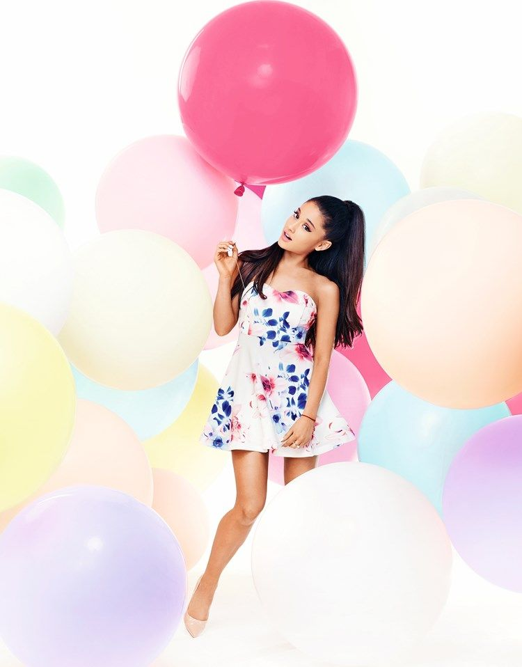 1121c5c907 Ariana Grande For Lipsy Floral Bandeau Prom Dress | balloons_candy ...
