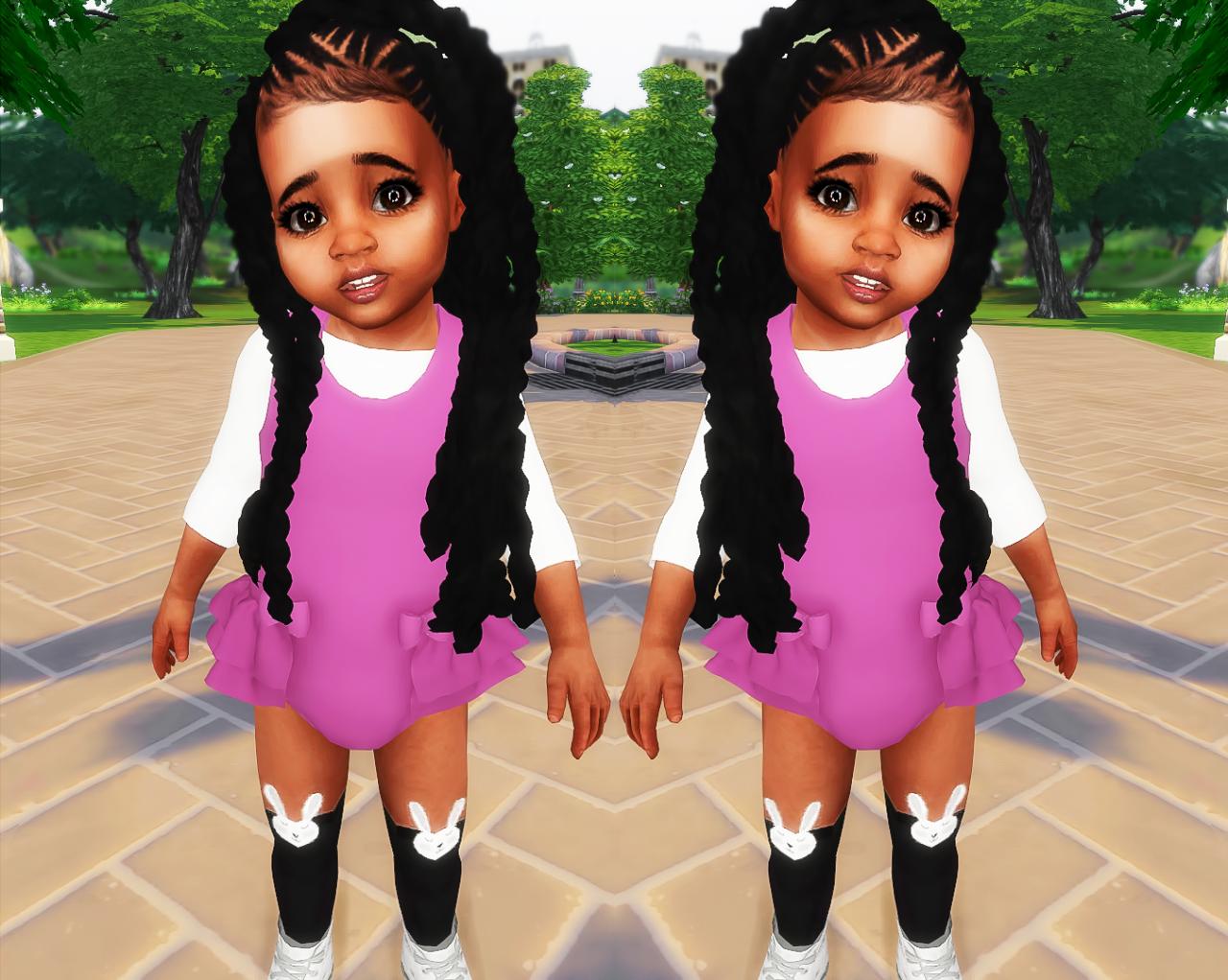 Ebonixsims Ebonix Broodsims Jumbo Braids Sims 4 Black Hair Toddler Hair Sims 4 Sims 4 Toddler