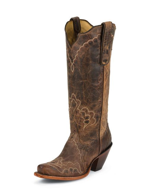 Tony Lama Women's Tan Saigets Worn Goat Cowgirl Boot  http://www.countryoutfitter.com/products/52477-womens-tan-saigets-worn-goat-boot