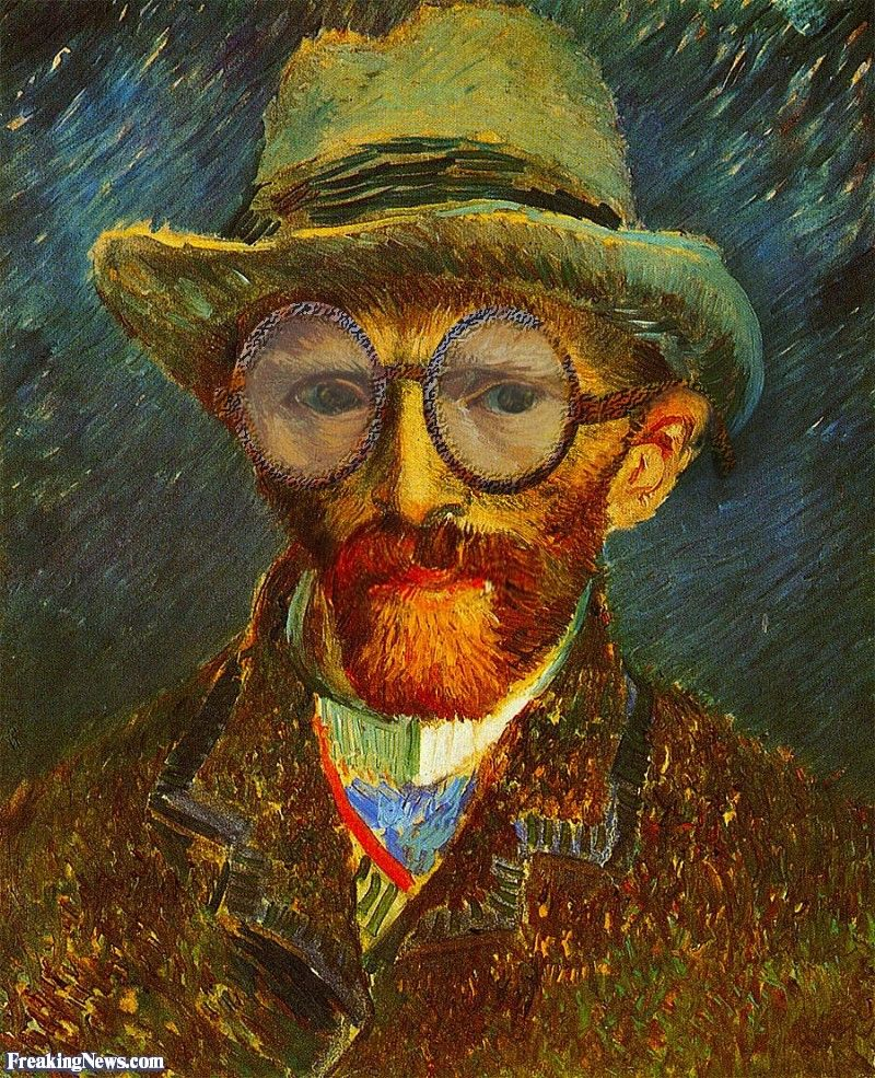 Vincent Van Gogh Self Portrait Wearing Glasses Art Pictures Art Van Gogh Self Portrait