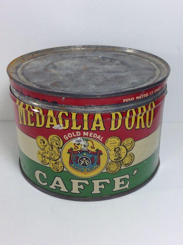 Medaglia doro gold medal caffe coffee tin vintage
