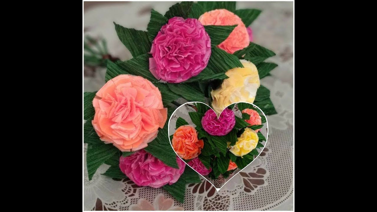 Diy Home Decor How To Make Colored Flowers With Tissue And Crepe
