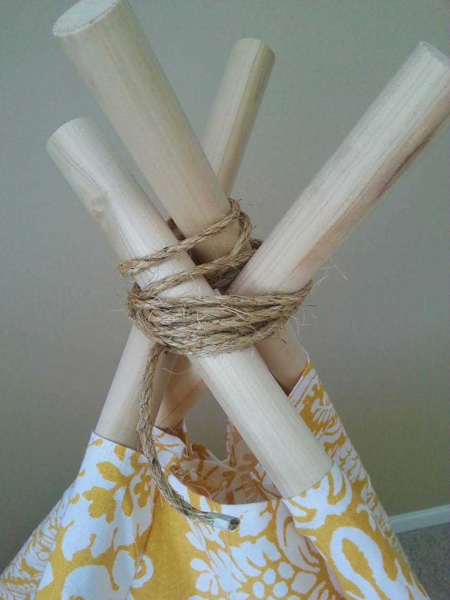 & DIY Kids Teepee Tent Tutorial