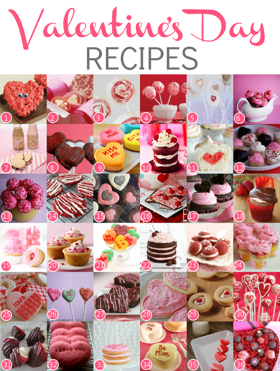Valentine's Day Recipes #cupcakes #cookies #recipes #valentines