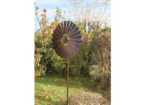 Eolienne Decorative De Jardin Led Et En Metal Style Us Eoliennes Decoratives