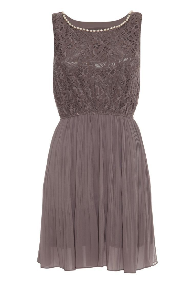 Mela - LACE AND PEARL - Cocktailkleid / festliches Kleid - grey ...