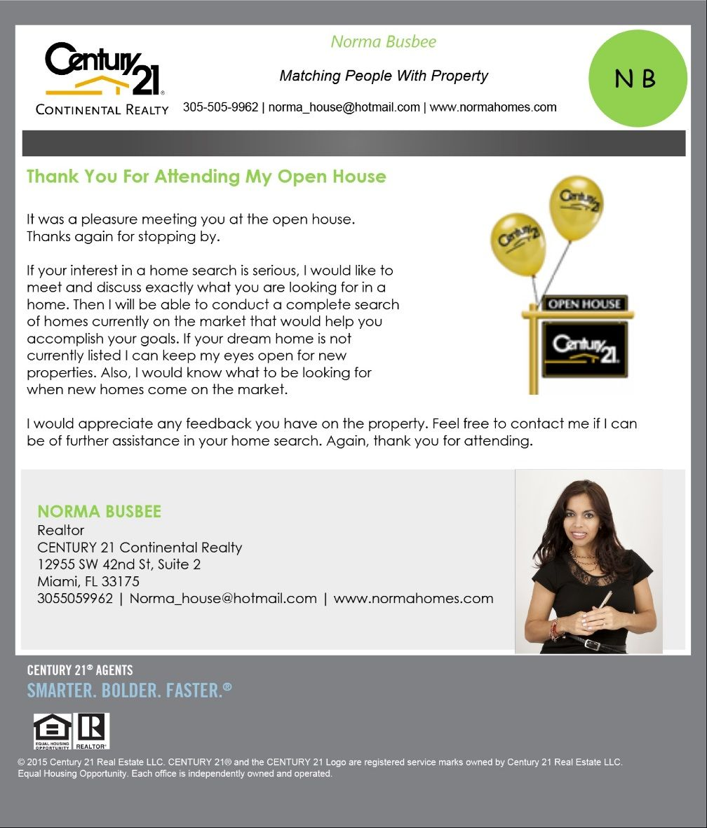 Century 21 Continental Realty Media Open House Real Estate Real Estate Agent Branding Real Estate Agent Flyer