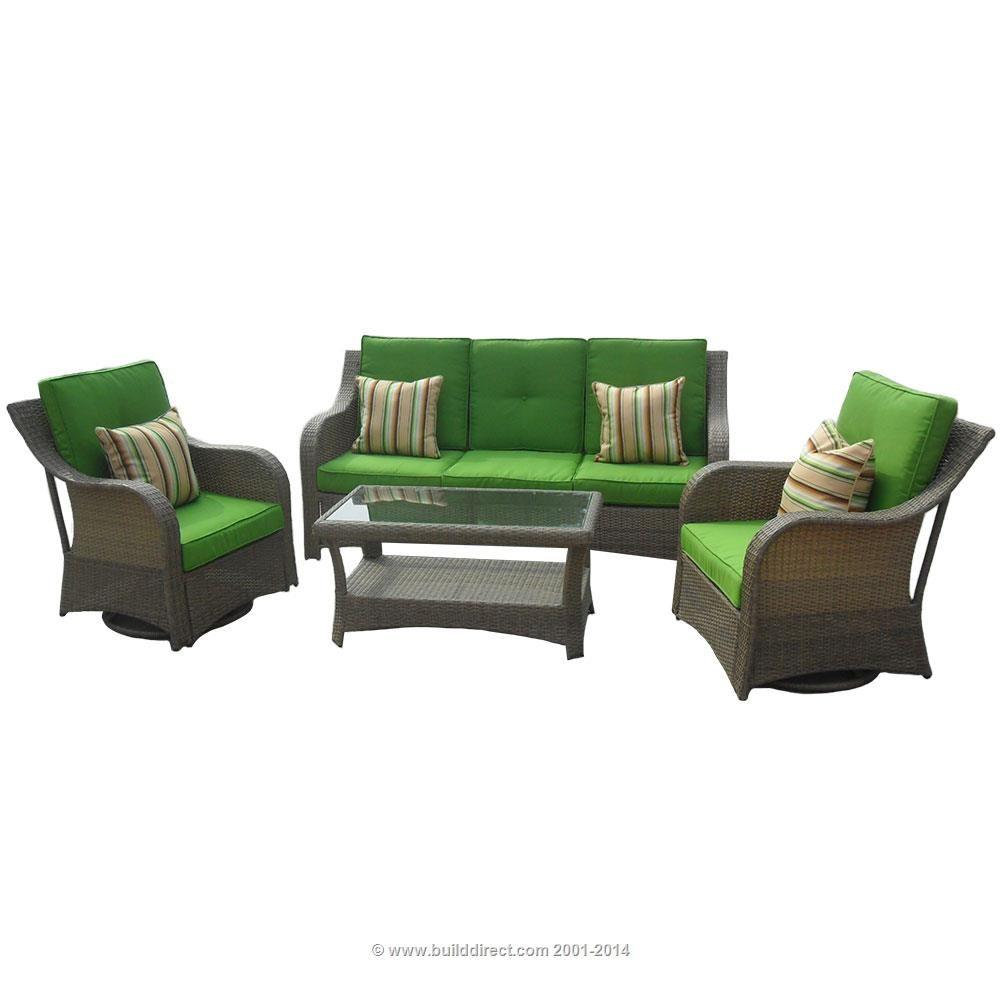 Patio Furniture   Traditional Series   4 Piece Conversation Set