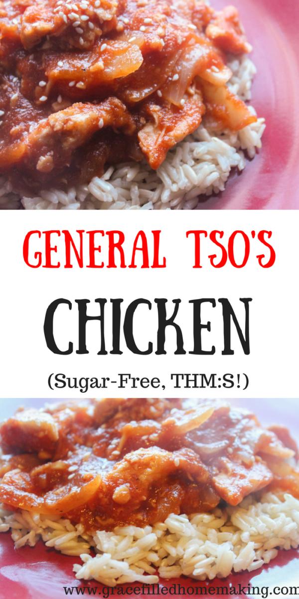 general tso's chicken thms sugarfree familyfriendly