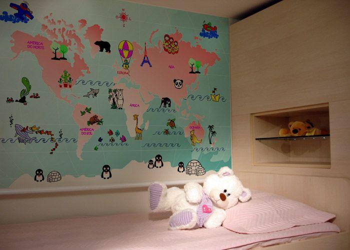 Aparador Verde Musgo ~ Leandro Selister Adesivo de Parede Mapa Mundi Infantil Feminino http  leandroselister com